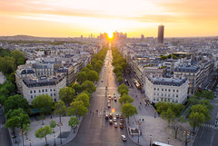 From Paris With Love (Davit Khutsishvili) Tags: city travel sunset paris france architecture spring nikon cityscape dusk 1855mm arcdetriomphe 2016 d5100 davitkhutsishvili dkhphoto