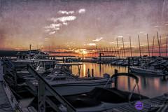 IMG_4199logo (zenimaging) Tags: sunset texture water wisconsin marina boat artistic lakemichigan greenbay ephraim hdr impressionist doorcounty