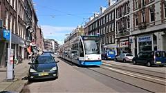 Trams op Koningsdag 18 (Peter ( phonepics only) Eijkman) Tags: city holland netherlands amsterdam transport nederland tram rail rails trams strassenbahn noordholland gvb streetcars combino nederlandse