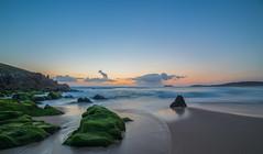 Solpor en Donios (Lois.Barros) Tags: ocean sunset sol mar corua playa galicia puesta ocaso ferrol