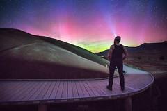 'Aurora Boardwalk' - Painted Hills, Oregon. (Gavin Hardcastle - Fototripper) Tags: night oregon stars landscape photography lights nightscape painted astro hills astrophotography aurora northern selfie gavinhardcastle fototripper
