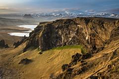 Sea Cliffs and Ice Caps (Bill Bowman) Tags: iceland vik sland seacliffs icecap mrdalsjkull dyrhlaey