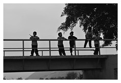 Bateria suicida. (Jamilette Prado) Tags: puente niños peligro 2015 comas suicidas