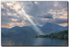 Shine Your Light (Fraggle Red) Tags: morning sun sunlight lake clouds austria österreich view rays oberösterreich hdr upperaustria traunsee traunkirchen canonef24105mmf4lisusm 7exp dphdr canoneos5dmarkiii 5d3 5diii adobephotoshopcc adobelightroomcc