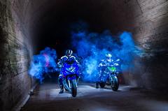 LightMotos_11 (Suso Sinmiedo) Tags: blue lightpainting verde green azul alicante motorbike moto tunel agost pilito vaverdedelmaigm