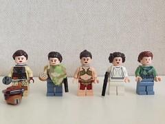 Leia tribute (nz-brickfan) Tags: starwars princess princessleia minifigs leia afol starwarsfan legominifigs