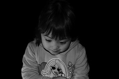 Imagin (BaconGhost) Tags: family light people bw baby cute girl beautiful kids fun happy nikon toddler child sweet chinese young peacful portriat 50mm18g nikond5100