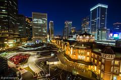Japan.2016.091 (ginomempin) Tags: cityscape city lights nightscape longexposure tokyostation marunouchi tokyo japan wide canon1022