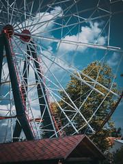 Mukachevo, Ukraine / Ferris Wheel in Peremoga Park (Dmitry Starosta) Tags: wheel ferris ukraine mukachevo
