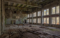 Sports Hall II (mariburg) Tags: abandoned decay ruin forgotten urbanexploration rotten desolate derelict chernobyl 6d marode tschernobyl lostplaces pripyat canonef1635mmf4lisusm canoneos6d
