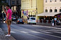 The Pink Panther - Carl Zeiss Jena DDR Sonnar 135/3,5 (petrwag) Tags: street czech prague praha photographing carlzeiss