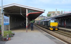 Two old Timers (Stapleton Road) Tags: station railway locomotive teignmouth doubleheader class57