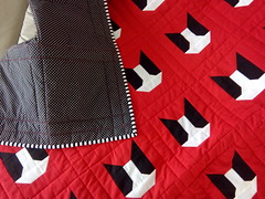 Red-dog-quilt_000010 (irina_vykhrestiuk) Tags: modern quilt handmade homemade twin kid child patchwork bedding bed quilting memory throw