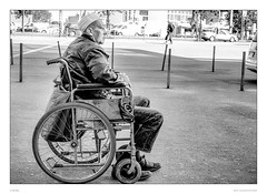 Life is hard (sdc_foto) Tags: street blackandwhite bw man berlin canon germany wheelchair streetphotography sdcfoto