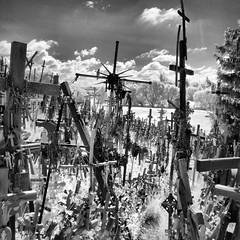 P1040149_fhdr (Bill Abrams) Tags: blackandwhite bw stpetersburg ir infrared lithuania balticstates hillofcrosses odysseysunlimited
