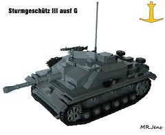 Sturmgeschtz III ausf G (Late) WWII LEGO (MR. Jens) Tags: world two germany war tank lego g iii wwii german ww2 late sturmgeschtz stug ausf brickarms brickmania