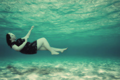 (alorollo) Tags: ocean light shadow sea selfportrait me water girl self effects photography flying underwater dress personal ripple floating levitation falling 365 asleep amateur drowning edit beginner levitate neverletmego florencethemachine