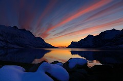 Sunset in Ersfjordbotn (John A.Hemmingsen) Tags: sunset sky seascape reflection colors clouds landscape nordnorge troms ersfjordbotn micarttttworldphotographyawards micartttt nikkor1685dx nikond7000