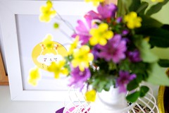 Pinkrain design: you are my sunshine! (Artoleria) Tags: spring homedecor stikers iloveyoursmile ikeaframe spontaneousflowers artoleria pinkraindesign