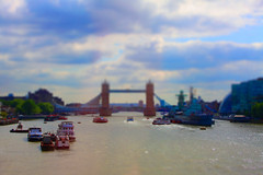 River Thames (akwan.architect) Tags: ocean city uk england london architecture towerbridge buildings river boats europe unitedkingdom ships longest riverthames tiltshift iconicsymbol