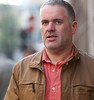 Chris Moyles outside the BBC Radio One studios London, England