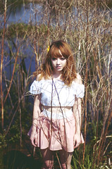 (rebekah.campbell) Tags: house abandoned girl field georgia rebekah savannah cari campbell wayman