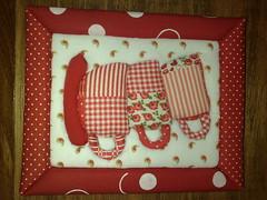 """Quadro """"Para Tomar Ch"""" (Atelier na Casinha by Re Molinaro) Tags: feitomo quadros cartonmousse patchworkembutido"""