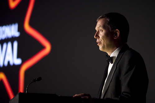 Ken Hay at the 2012 EIFF Awards ceremony at the Filmhouse