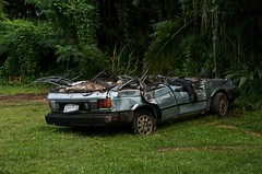 ...and for everything else there's Mastercard... (heritagefutures) Tags: car metal landscape automobile cleanup safety health recycling seen scrap pulling guam wrecks micronesia semitrailer inarajan osha merizio