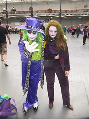IMG_7468 (the_gonz) Tags: sexy green london comics dc cool purple geek cosplay convention batman olympia joker dccomics gotham facepaint fancydress con gothamcity londonfilmandcomiccon thejoker olypmia lfcc