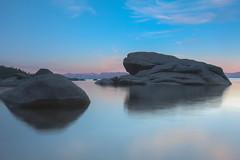 beside the bonsai rock (jimmy_racoon) Tags: b lake rock landscape w tahoe laketahoe bonsai 1740mm cpl f4l 1740mmf4l bwcpl canonxsi bonsairock