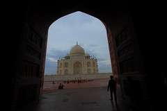 IMG_2840 (Tarun Chopra) Tags: travel sky india history horizontal architecture canon outdoors photography ancient day arch tajmahal agra dome gurgaon traveldestinations buildingexterior placeofinterest internationallandmark builtstructure traditionallyindian indiatravelphotography gurugram