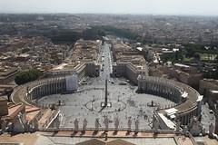 View from the top of St Peter's Basilica (Rory Francis) Tags: vatican stpeters rome roma museum catholic basilica vaticano cupola dome sanpietro romancatholic rhufain catholig amgueddfa