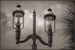 Lamp Lights in St. Augustine (Digital Lady Syd) Tags: florida staugustine sepiatone lamplights