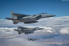 Soaring Eagles (~Clubber~) Tags: 3 airplane fighter eagle aircraft aviation military nevada jet formation trio airforce dogfight usaf eagles redflag f15 nellis refueling lakenheath f15c airair warfighters