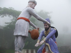Shivaji seeking blessings