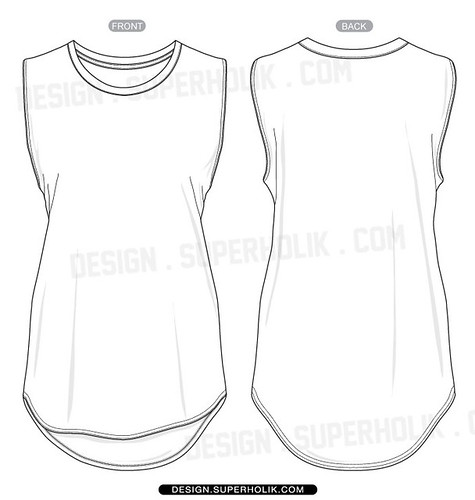 Hem Tank Top Template A Photo On Flickriver