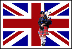Union Flag (Fazer44) Tags: blue red white playing lady canon women kilt flag scottish bagpipes unionjack unionflag tartan