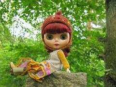 Forest on stone slab (Helena / Funny Bunny) Tags: doll sweden blythe blekinge torpet rbl sölvesborg forestmeadow funnybunny gentleriver fbfashion