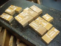 Brylski sorts, untrimmed (Nick Sherman) Tags: museum hamilton wi typecon woodtype tworivers brylski typecon2012