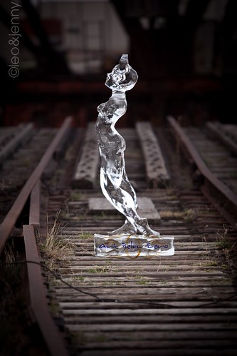 Ice Justice Ice Sculpture @train tracks