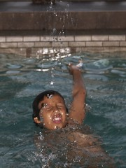 Dreams of Olympic Gold (Mary StarMagic -) Tags: boy water swimming gold future dreams olympics splash backstroke goldmedal phelps olympian summer2012 olympicgoldmedaldreams