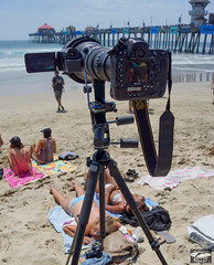 Nikon D4 rig with Video Camera for Shooting Stills & Video @ Same Time! (45SURF Hero's Odyssey Mythology Landscapes & Godde) Tags: camera portrait beach fashion ed photography during pier us video 3d los nikon surf open with shot time angeles huntington contest lifestyle gear surfing photographic womens nike full sd cameras same rig heat both pro surfers hd nikkor stills camcorder vr hurley afs d4 f4g 3mos lakey huntingon petersons 600mm i recordsetting x900mk picturesofnikond4setup45windsurfer9shootersetupnikond4