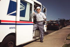 Mr. Postman (JMSF415) Tags: portrait people usa work environmental government usps mailman postman onelight alienbees mrpostman nikkor24mm28 sanfranciscophotographer nikond300 jmsf415 bayareaphotographer jorgemorenophotography