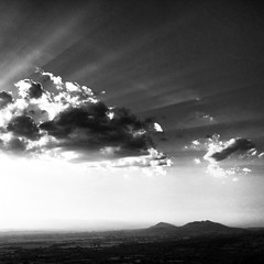view (SS) Tags: sunset summer sky bw clouds square tivoli mood view rays vastness iphone4 ss