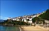 Lastres (Ginés S.) Tags: sol azul del atardecer mar san barco martin playa olympus colores cielo montaña zuiko sella hdr lastres uro 1454 doctormateo ginéss