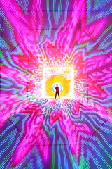 Trippy Flippy Camera Tricky II (quornflake) Tags: longexposure light urban lightpainting man wool painting fire long exposure tunnel lighttrails trippy sparks icm digitallightwand