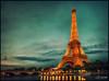 Eiffel Tower (Calvin J.) Tags: paris france tower texture architecture landscape nikon eiffel crossprocessing latoureiffel nik nikkor ironlady 2470mmf28 colorefexpro ladamedefer d3s singhrayvarind machineryhdreffects