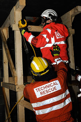 Double Whammy 2009 351 (IainDK) Tags: dewaltnailguninusetobuildshores usar urban search rescue west yorkshire exercise double whammy whamy fire collapse multi agency xxx