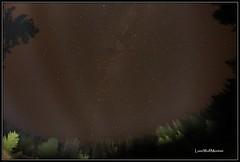 man made northern lights...... (LoneWolfMontana) Tags: sky stars town montana with angle ghost wide fisheye granite philipsburg